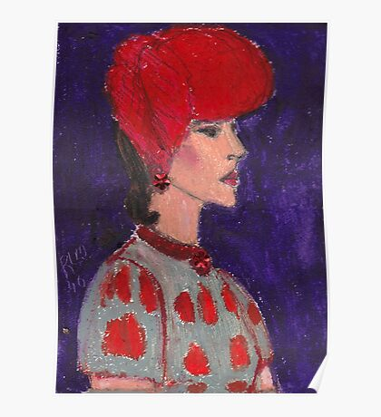 Red Hat Woman No #2 1940's Poster