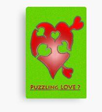 A LOVE puzzle piece Canvas Print