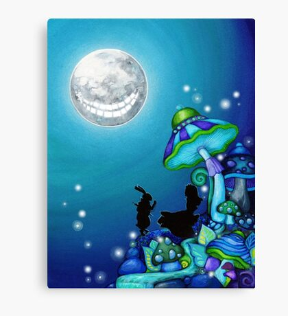 Alice in Wonderland and White Rabbit Canvas Print