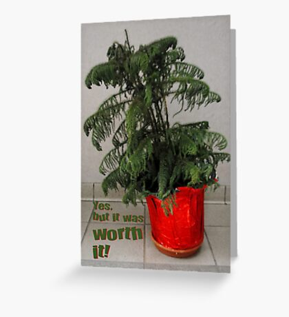 'Twas the Night After Christmas...(card w/ message) Greeting Card