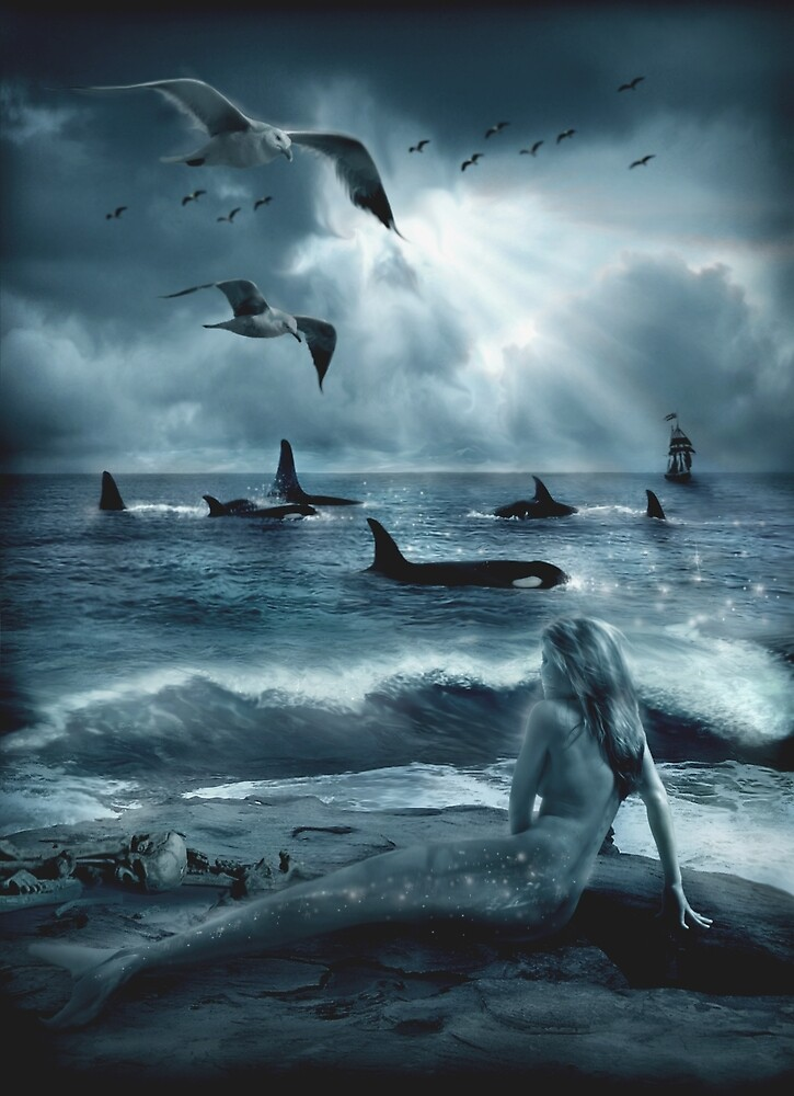 Quot Sirens Of The Sea Quot By Cliff Vestergaard Redbubble