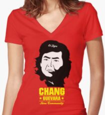 Chang Guevara Women's Fitted V-Neck T-Shirt