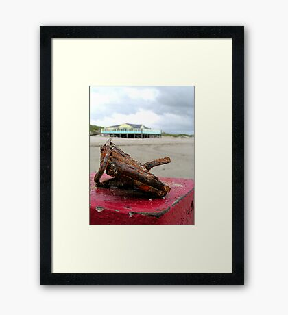 Rusty crusty Lock Case Framed Print