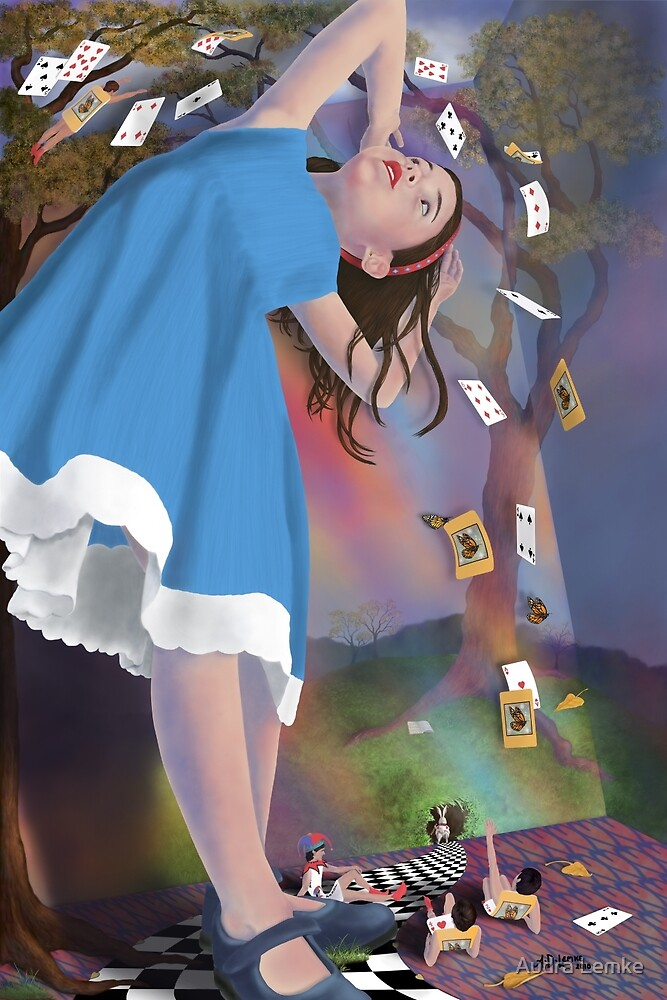 Quot Flying Cards Dissolve Alice S Dream Quot By Audra Lemke