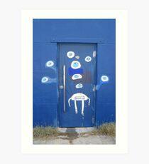 A door with eyes- wall art Art Print
