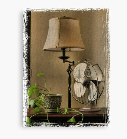 """""""Granny's Fancy Electric Fan""""... prints and products Canvas Print"""
