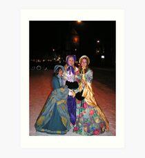 Giddy as kippers Victorian girls. Art Print