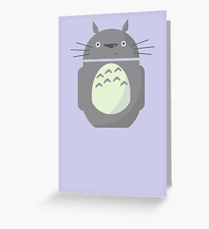 My Neighbor Totoroid Greeting Card