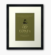 Old Toby's premium pipe-weed Framed Print