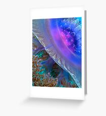 Crown Jellyfish Close Up Greeting Card