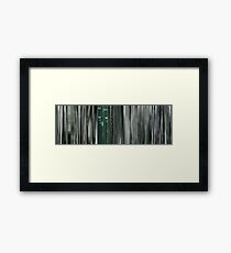 Moviebarcode: The Animatrix 8: A Detective Story (2003) Framed Print