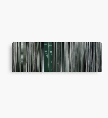 Moviebarcode: The Animatrix 8: A Detective Story (2003) Canvas Print