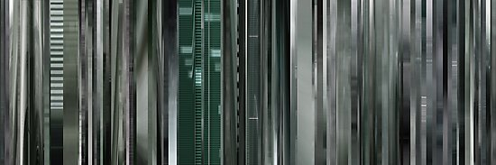Moviebarcode: The Animatrix 8: A Detective Story (2003) by moviebarcode