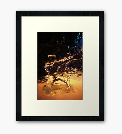 Frozen archer Framed Print