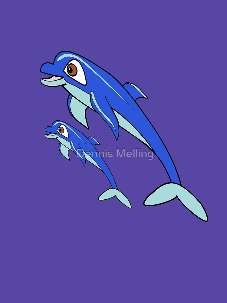 Mum & Baby Dolphin design by Dennis Melling