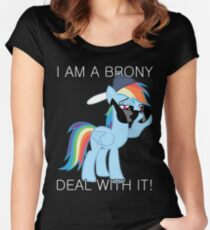 Rainbow Dash Brony Women's Fitted Scoop T-Shirt