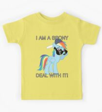Rainbow Dash Brony Kids Tee