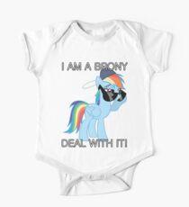 Rainbow Dash Brony Baby Body Kurzarm
