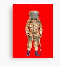 TV Astronaut Canvas Print