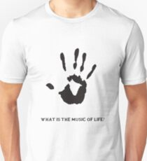 Dark Brotherhood: What is the music of life? Slim Fit T-Shirt
