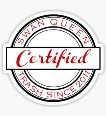 Certified SQ Trash RED Sticker
