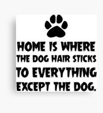 Dog Hair, Witty Canvas Print