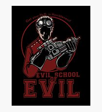 Dr. Horrible's Evil School of Evil Photographic Print