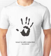 Dark Brotherhood: What is life's greatest illusion? Unisex T-Shirt