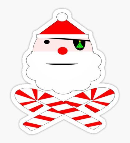 santa jolly roger Sticker