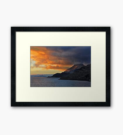 Sunset on the Chilean Fiords Framed Print