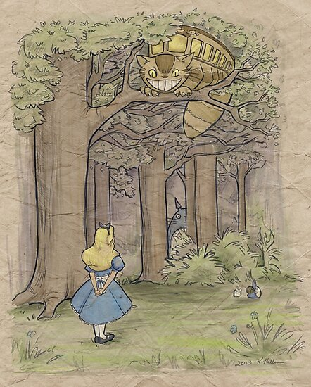 My Neighbor in Wonderland by Karen  Hallion
