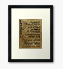 """""""Live Your Life""""  on old parchment, Chief Tecumseh Framed Print"""