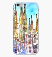 Sagrada Famila in Barcelona with Blue Sky iPhone Case