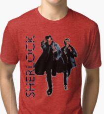 Sherlock Holmes and Doctor Watson! Tri-blend T-Shirt