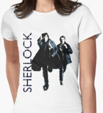 Sherlock Holmes and Doctor Watson! Womens Fitted T-Shirt
