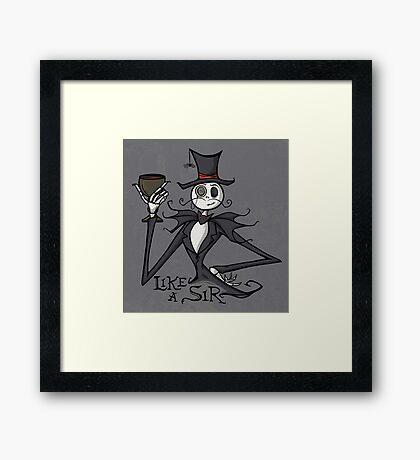 Gentleman Jack Framed Print