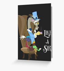 My Little Pony - MLP - Discord - Like a Sir Greeting Card