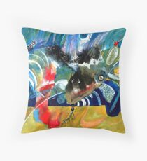 Insects and Birds Throw Pillow