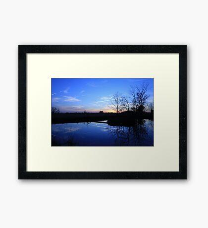 Sunset Blues Framed Print