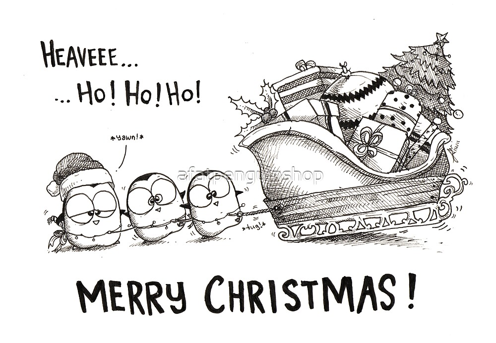 Heave Ho Ho Ho - Merry Christmas! by afatpenguinshop