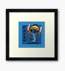 Cunning and Blue! Framed Print