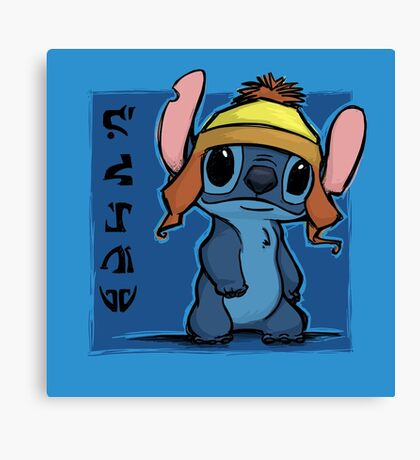 Cunning and Blue! Canvas Print