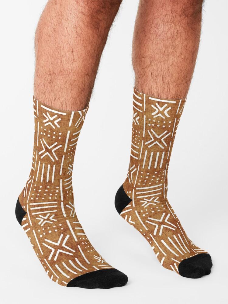 Alternate view of Mudcloth - rust, mudcloth, mud cloth, boho, bohemain, hippie Socks