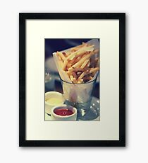 Parmesan Truffle French Fries Framed Print