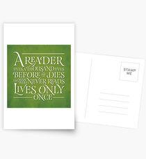 A Reader Lives A Thousand Lives Postcards