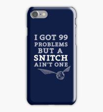 99 Problems But A Snitch Ain't One - Blue iPhone Case/Skin
