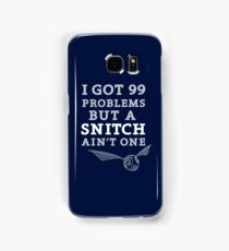 99 Problems But A Snitch Ain't One - Blue Samsung Galaxy Case/Skin