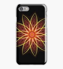 Fractal Flower Red  iPhone Case/Skin