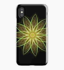 Fractal Flower Yellow  iPhone Case/Skin
