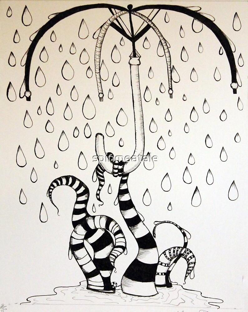 Tentacle Rainstorm by spinmeatale